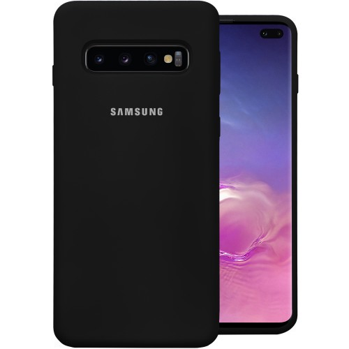 Силикон Original Case (HQ) Samsung Galaxy S10 Plus (Чёрный)