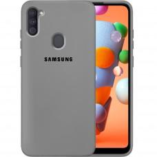 Силикон Original Case Samsung Galaxy A11 (2020) (Серый)