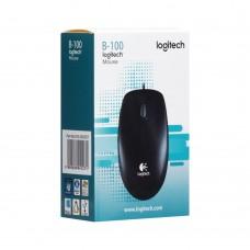 мышь проводная USB Logitech B100 (Чёрный)