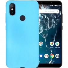 Силиконовый чехол iNavi Color Xiaomi Mi6x / A2 (голубой)
