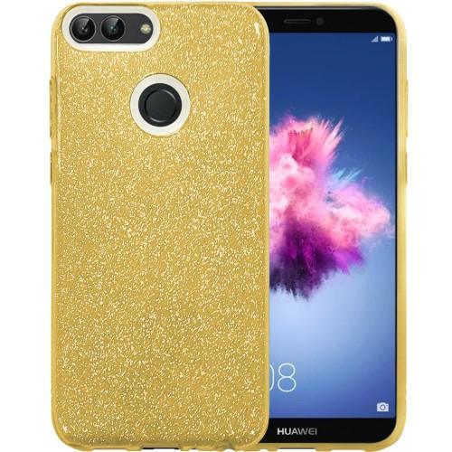Силиконовый чехол Glitter Huawei P Smart (золотой)