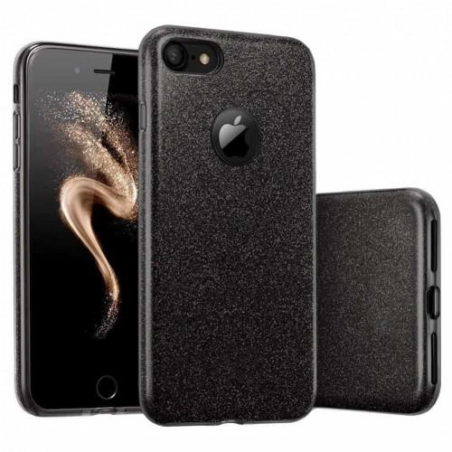 Силиконовый чехол Glitter Apple iPhone 7 / 8 (черный)