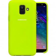 Силикон Original Case Logo Samsung Galaxy A6 (2018) A600 (Салатовый)