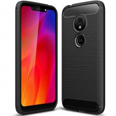 Силикон Polished Carbon Motorola G7 Play (Чёрный)