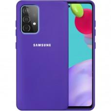 Силикон Original 360 Case Logo Samsung Galaxy A52 (2021) (Фиолетовый)