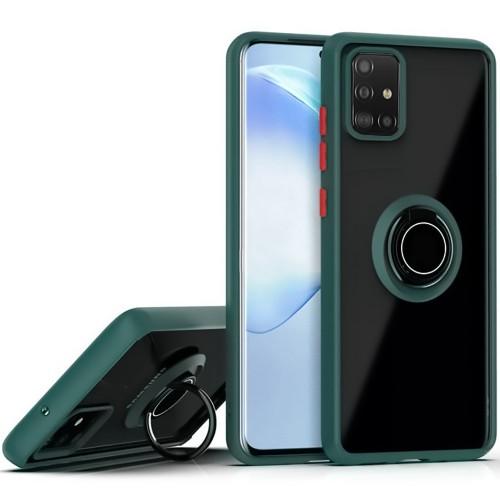 Накладка Totu Ring Armor Case Samsung Galaxy A51 (2020) (Темно-зеленый)