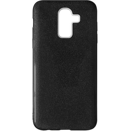 Силикон Glitter Samsung Galaxy A6 Plus (2018) A605 (Черный)
