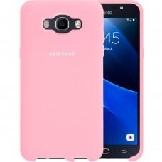 Силикон Original Case Logo Samsung Galaxy J7 (2016) J710 (Розовый)