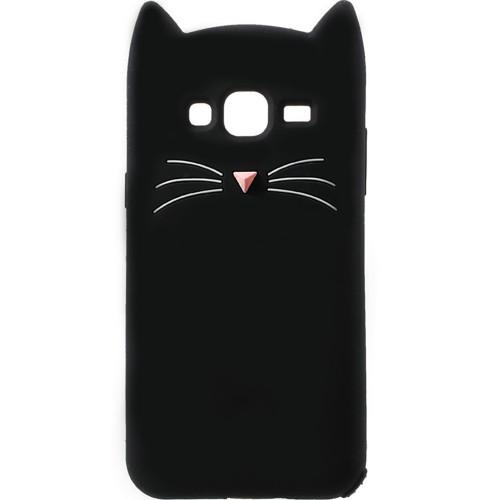 Силикон Kitty Case Samsung Galaxy J7 (2015) J700 (чёрный)