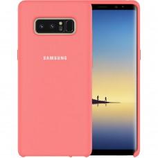 Силикон Original Case Logo Samsung Galaxy Note 8 N950 (Розовый)