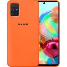 Силикон Original Case Samsung Galaxy A71 (2020) (Оранжевый)