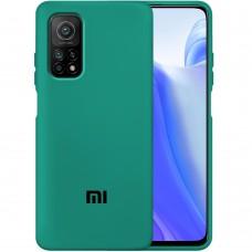 Силикон Original Case Xiaomi Mi 10T (Тёмно-зелёный)