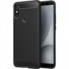 Силиконовый чехол Polished Carbon Xiaomi Redmi Note 7 (Черный)