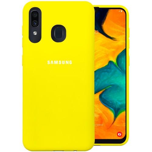 Силикон Original 360 Case Logo Samsung Galaxy A20 / A30 (2019) (Жёлтый)