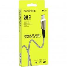 USB-кабель Borofone BU15 Superior (Type-C) (Чёрно-серый)