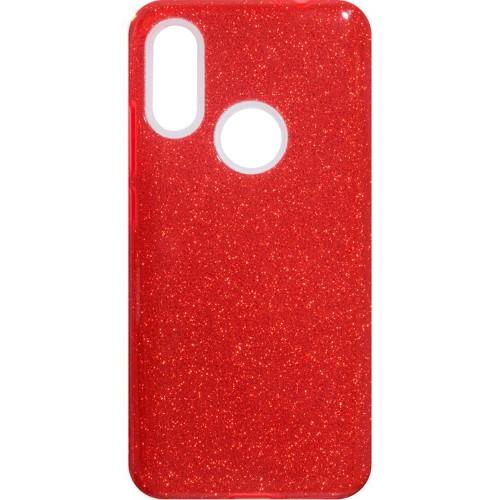 Силиконовый чехол Glitter Xiaomi Redmi 7 (Красный)