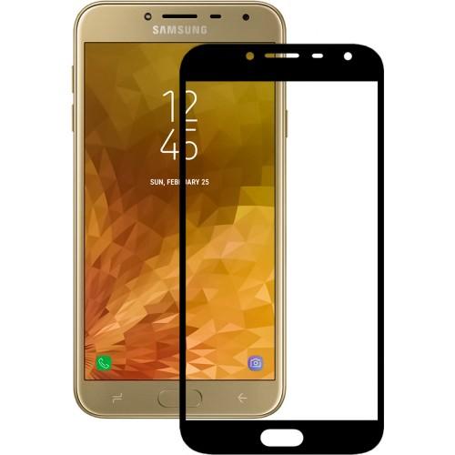 Стекло Samsung Galaxy J4 (2018) J400 Black (Клей)