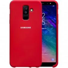 Силикон Original Case HQ Samsung Galaxy A6 Plus (2018) A605 (Клубничный)