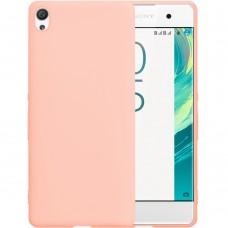 Силиконовый чехол iNavi Color Sony Xperia XA (Розовый)