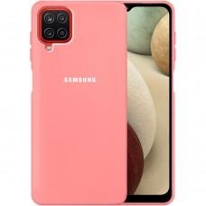 Силикон Original Case Samsung Galaxy A12 (2020) (Розовый)