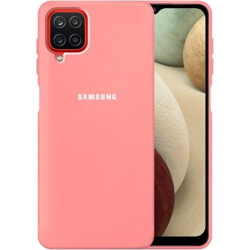 Силикон Original 360 Case Logo Samsung Galaxy A12 (2020) (Розовый)