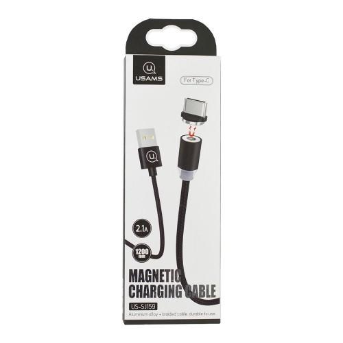 USB кабель Usams Magnetic (Type-C) (Чёрный)
