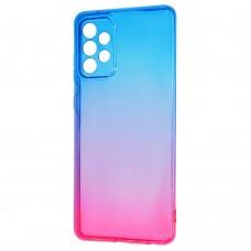 Силикон Gradient Design Samsung Galaxy A72 (2021) (Сине-розовый)