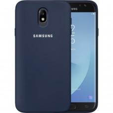 Силиконовый чехол Original Case Samsung Galaxy J7 (2017) J730 (Тёмно-синий)