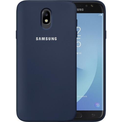 Силикон Original 360 Case Logo Samsung Galaxy J7 (2017) J730 (Тёмно-синий)