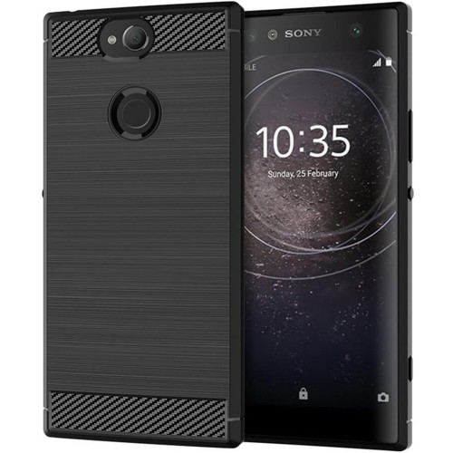 Силикон Polished Carbon Sony XA 2 (Чёрный)