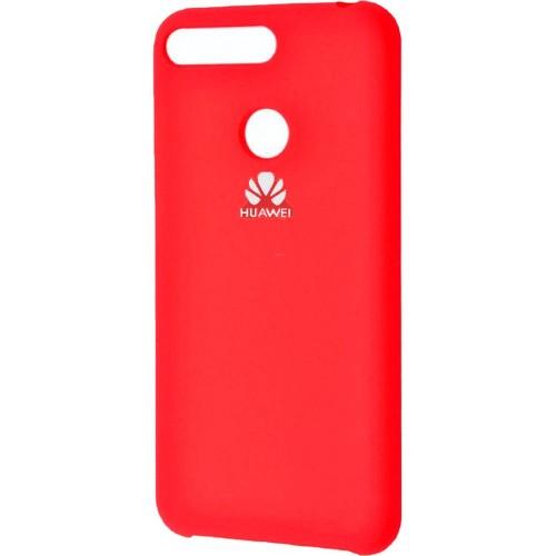 Силикон Original Case Logo Huawei Y6 Prime (2018) / Honor 7A Pro (Красный)