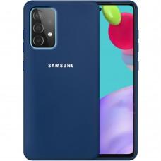 Силикон Original 360 Case Logo Samsung Galaxy A52 (2021) (Тёмно-синий)