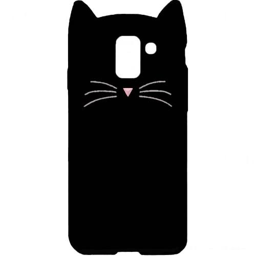 Силиконовый чехол Kitty Case Samsung Galaxy J6 (2018) J600 (чёрный)