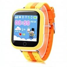 Детские смарт-часы Smart Baby Watch GPS+WiFi Q100 (Yellow)