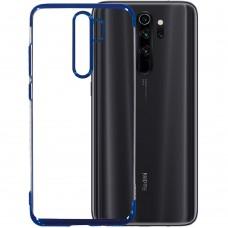 Силиконовый чехол UMKU Line Xiaomi Redmi Note 8 Pro (Синий)