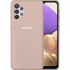 Силикон Original 360 Case Logo Samsung Galaxy A32 (2021) (Пудровый)