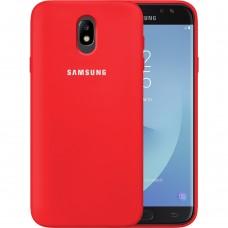 Силикон Original Case Samsung Galaxy J7 (2017) J730 (Красный)