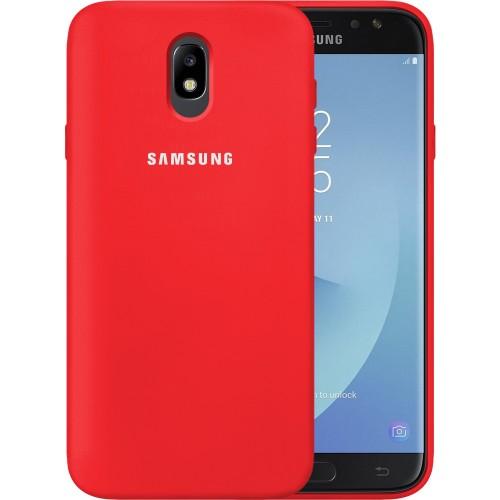 Силикон Original 360 Case Logo Samsung Galaxy J7 (2017) J730 (Красный)