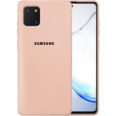 Силикон Original Case Samsung Galaxy Note 10 Lite (Пудровый)