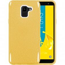 Силикон Glitter Samsung Galaxy J6 (2018) J600 (Золотой)