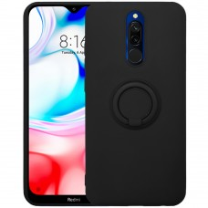 Чехол Ring Silicone Case Xiaomi Redmi 8 (Чёрный)