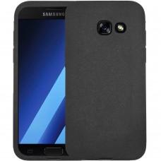 Силиконовый чехол Textile Samsung Galaxy A3 (2017) A320 (Чёрный)