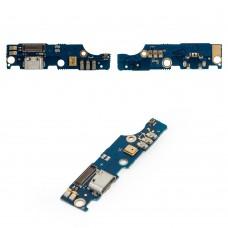Шлейф (Flat Cable) Meizu M2 Note с разъёмом зарядки и микрофоном