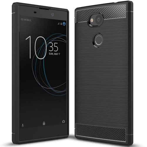 Силикон Polished Carbon Sony Xperia L2 (Чёрный)