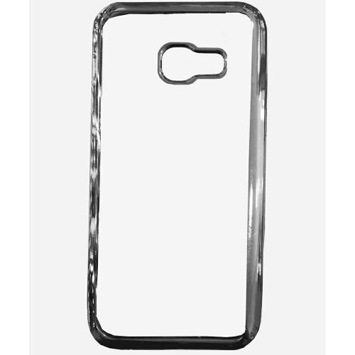 Силиконовый чехол UMKU Line Samsung A3 (2016) A310 (Серый)