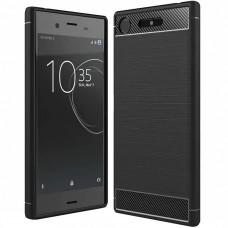 Силиконовый чехол Polished Carbon Sony XZ 1 (Черный)