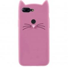 Силиконовый чехол Kitty Case Huawei Honor 9 Lite (розовый)