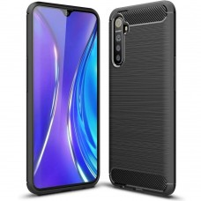 Силикон Polished Carbon Xiaomi Realme 6 (Чёрный)