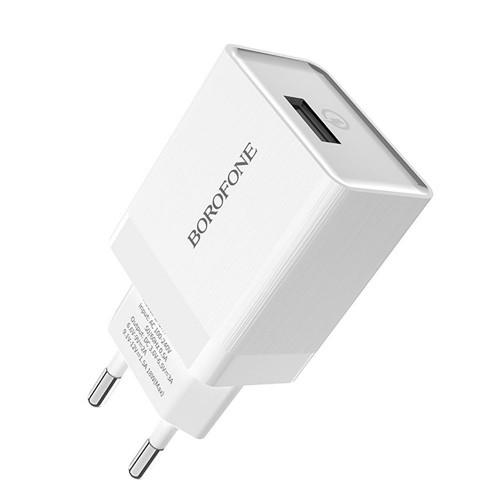 СЗУ-адаптер USB Borofone BA2 3A (Белый)