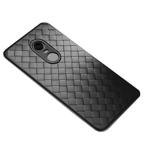 Накладка Weaving Leather Xiaomi Redmi 5 Plus (черный)